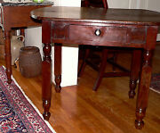 C19th Century Rare Server / Work Table Stand Alabama Yellow Pine 30t