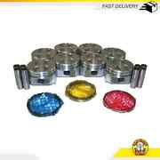Pistons And Rings Fits 63-89 Ford 4.7l 5.0l V8 Ohv 16v Cu. 289 302