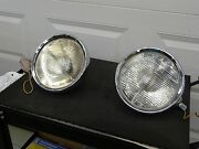 Lucas King Of The Road Vintage Stepped Reflector Car Driving Lamps