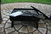 Portable Compact Charcoal Grill Barbecue Bbq Smoker Outdoor Shashlyk Fish Steak