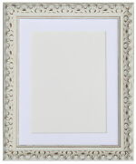 White Vintage Ornate Shabby Chic With Gold Picture And Photo Frames With Mounts