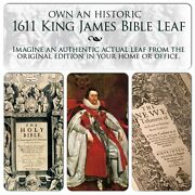 1611 First Ed King James Bible Great He Folio Old Testament Leaf Our Selection