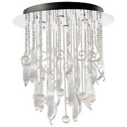 Cyan Design 04667 Round Mirabelle Pendant, Chrome And Clear