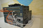 Cisco Ccent, Ccna And Ccnp Lab Kit 2x 2821 Ccie 15.1 Ios 3550-24 Layer 3, 2950-24