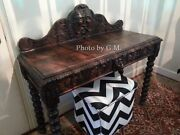 Antique English Sideboard Or Wine Server In Jaccobean Style