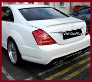 650 Arctic White 07-13 M-benz W221 S350 S550 S65 4dr A Type Trunk Rear Spoiler