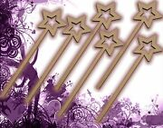 Six 6 Fairy Wands Craft Wood Mdf Girls Birthday Party Favor Novelty Toys 128
