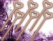 Six 6 Princess Wands Craft Wood Mdf Girls Birthday Party Favour Novelty 132