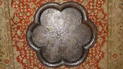 Antique Chinese Iron Tray Gold And Silver Inlaid Indian Islamic Persian