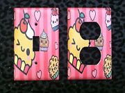 Pink Cupcake Kitchen Decor Light Switch Plate Cover Choose Size Cover Home Decor