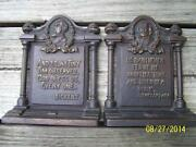 Bradley Hubbard Christmas Tiny Tim Dickens Cast Iron Shakespeare Bookends Home