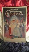 Original Reprint Of The 1949 Disney Cinderella Re-release Poster Archived