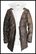 Men And039baneand039 Dark Knight Rises Handmade Real Leather Coat/jacket Brown Sizes