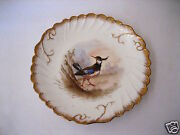 Antique Lsands Limoges China France 9 1/4 Hand Painted Game Bird Gamebird Plate 7