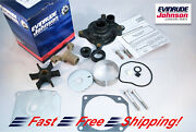 New Johnson Evinrude Oem Water Pump And Impeller Kit 439077 Brp Omc W Housing