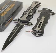 Tac-force Gothic Cross Spear Point Spring Open Assisted Folding Pocket Knife