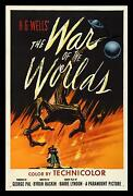 War Of The Worlds 1953 Movie Poster Stretched Art Canvas Print Iconic Sc-fi Film