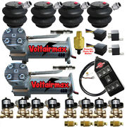V Airbagit Dc480compressors 1/2 Valves Air Ride 2600 Bags 7 Switch