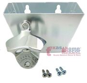 Polished Stainless Steel Starr X Opener Combo Wall Mount With Metal Cap Catcher