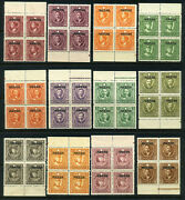 China Roc 1933-34andrsquo Limited For Use In Yunnan Province Set Of 12 Blk Of 4 Um Og