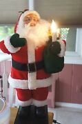 1994 Holiday Creations 27 Inch Tall Electric Moving Santa Candle Lights Up
