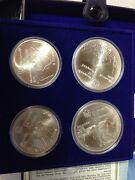 1976 Canadian Montreal Olympic Games Series Vi 4 Uncirculated Silver Coin Set