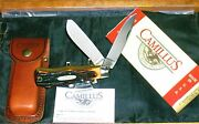 Camillus Trapper 716 Dura-stag Patented Side Locks Original Packaging And Sheath