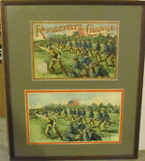 Rooseveltand039s Charge Picture Puzzle Framed With Lid Of Box