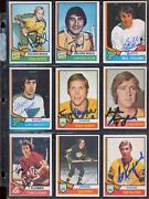 Vintage Lot Of 39 Signed Topps Opc 1974-75 Hockey Cards Dave Keon Mickey Redmond