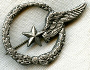 Early Wwii Free French Air Force Observer Badge Made In North Africa