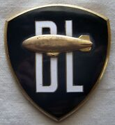 Extremely Rare Douglas Leigh Sky Advertising Corp. Blimp Pilot Hat Badge