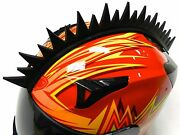 Stick-on Uneven Saw Blade Spikes Mohawk Strip For Motorcycle Bike Helmets B