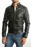 ★giacca Giubbotto Uomo In Di Pelle 100★ Men Leather Jacket Veste Homme Cuir 3s5