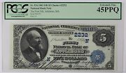 1882 First National Bank Attleboro Second Charter 2nd Issue 5 Pcgs Ef45