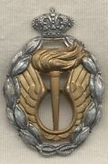 Wwii Italian Air Force Gold Strategic Reconnaissance Badge By Bomisa