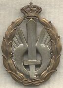 Wwii Italian Air Force Silver Assault Combat Qualification Badge By Lorioli
