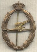Wwii Italian Air Force Gold Rescue Qualification Badge By Lorioli
