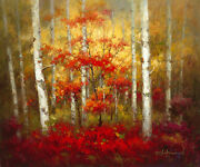 Seasons Of Change I By David Lakewood Canvas Giclee 24x30 Landscape Open Edition