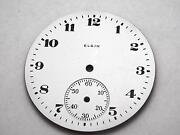 Elgin 37.74mm Watch Dial For Pocket Watches Vintage White Black Numeral Markers