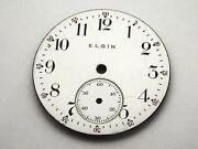 28.9mm Elgin Usa Antique Watch Dial For Pocket Watches Subdial White Vintage