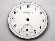 34mm Elgin Watch Dial For Pocket Watches Vintage White Subdial Black Markers Nos