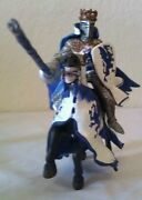 2004 Papo Blue White Dragon King Knight And Matching Horse Toy Toys