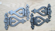 1 Pair Cast Iron Ornate Old Vintage Style Kitchen Cabinet Cupboard Door Hinges