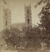 Stereoview French Church Montreal Canada.