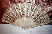 Fan. Linkage Of Mother-of-pearl. English Lace. France. 19th Century