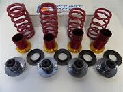 Uc215 Ground Control Coilover And 4 Pewter Mount Kit 92-00 Civic Limited Edition