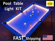 Led Pool And Billiard Table Lighting Kit - Light Your 8 Ball Rack And Accessories