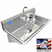 Ada 1 Station 36 Hand Wash Sink Electronic Faucet Hands Free. Made In America