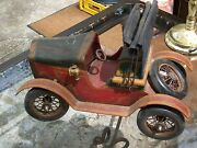 Large 20 Custom Made Vintage Metal And Wooden Ford Model T/ A Model Car