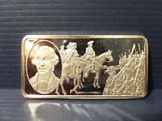 George Washington 500 Grains Sterling Silver Bar The 100 Greatest Americans .925